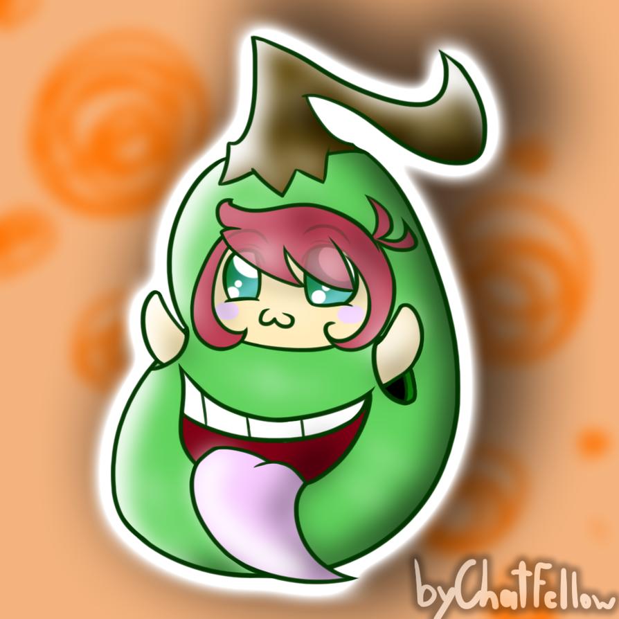 Chibi Biting Pear Costume by ChatFellow