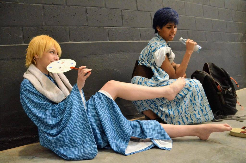 Kise and Aomine cosplay (Yukata version) 5 by Woshii