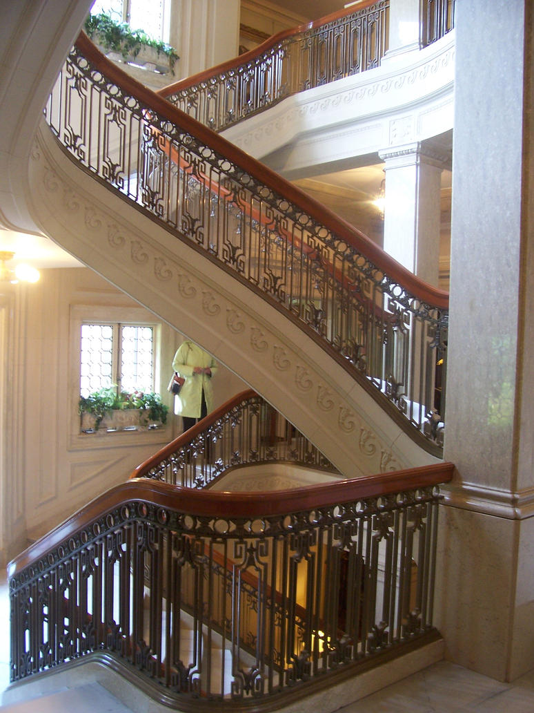 Pittock mansion interior for Pre built stairs interior