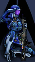 Tali'Zorah 'recruitment poster' color by Marker77