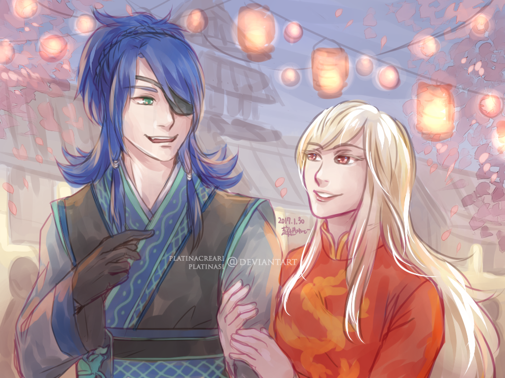 [CM] Ryujin and Amaterasu by PlatinaCreari