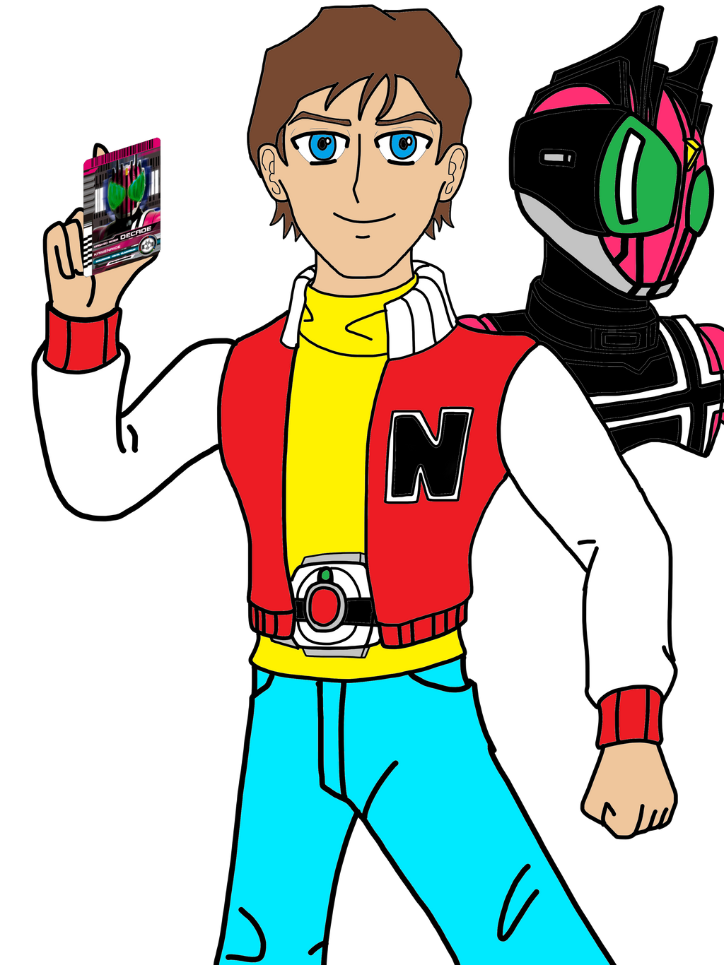 Kevin Keene Captain N As Kamen Rider Decade By Omegaridersangou On Deviantart