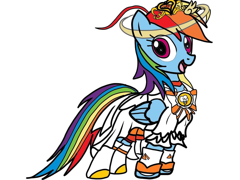 Rainbow Dash as Cure Sunny Princess Form by OmegaRiderSangou on ...
