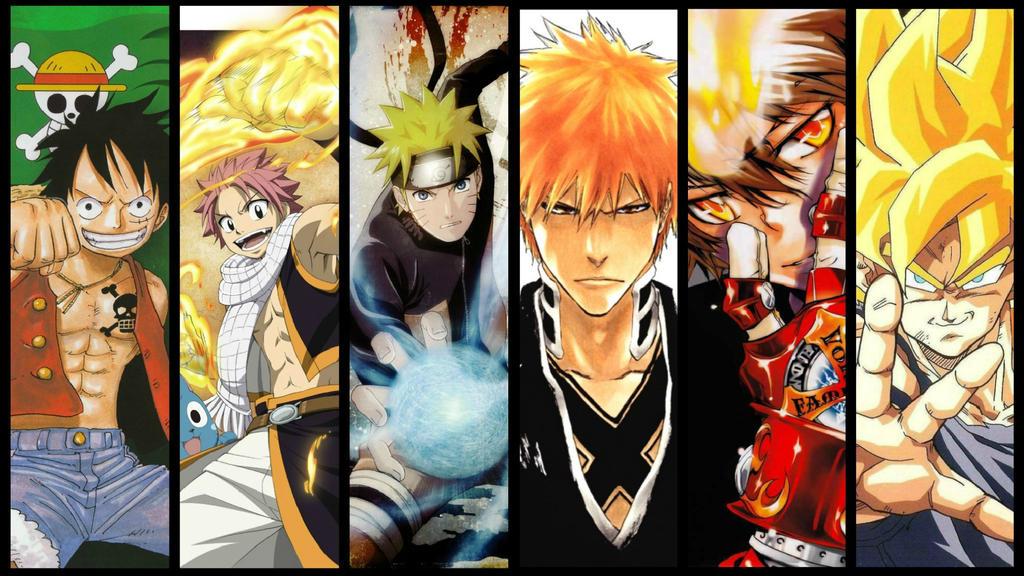 Goku Luffy Naruto Ichigo Natsu Tsuna | www.pixshark.com ...