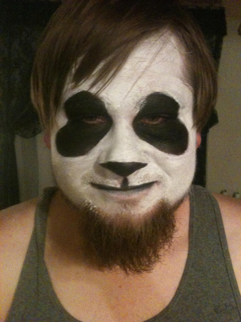 Panda face paint by red-string-of-fate on DeviantArt