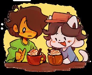 temmie buys you a pumpkin latte asmr by sealdeer