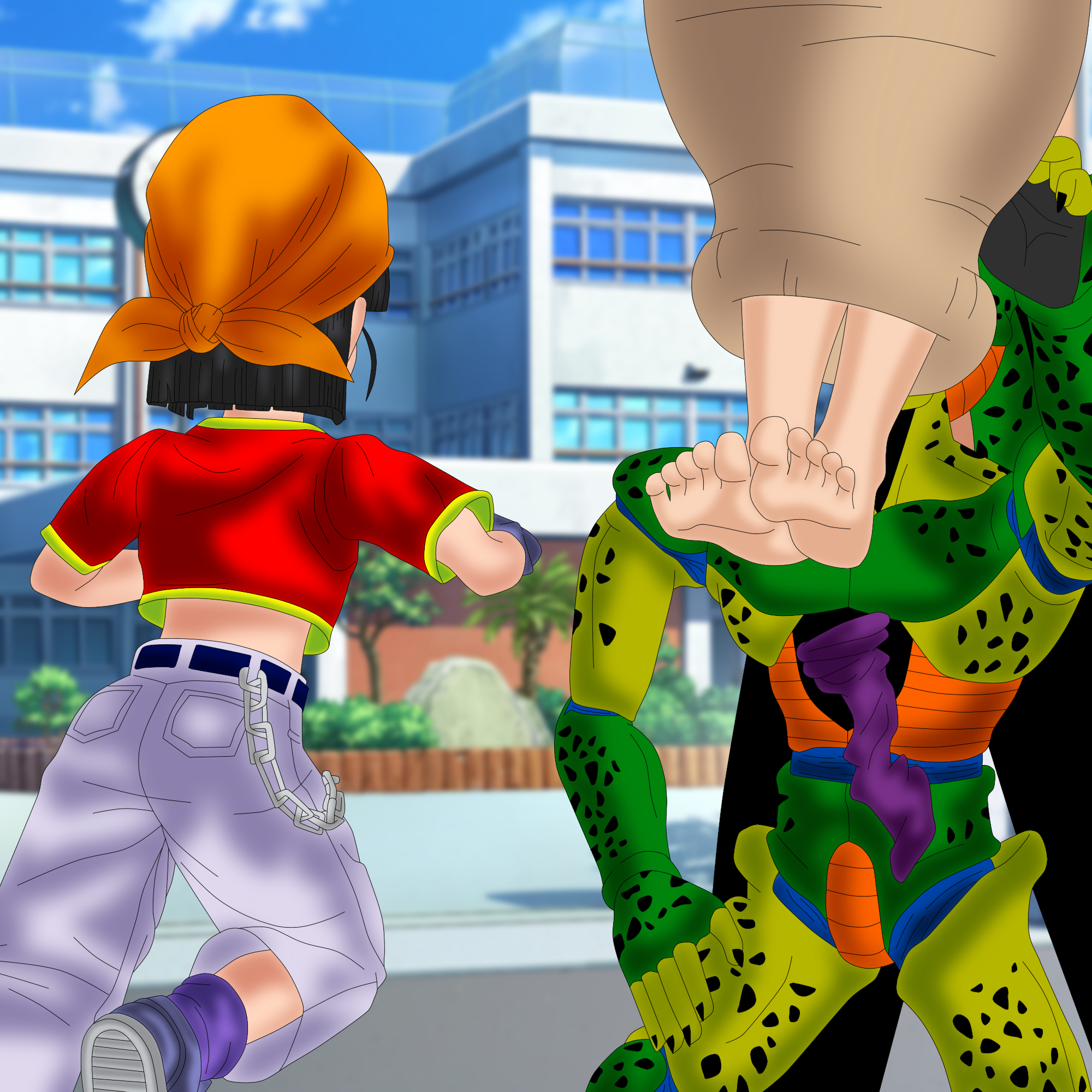 Android 18 And Tail Deviantart: Cell's Sweet Revenge! [PART 3] By SoleSwallower On DeviantArt
