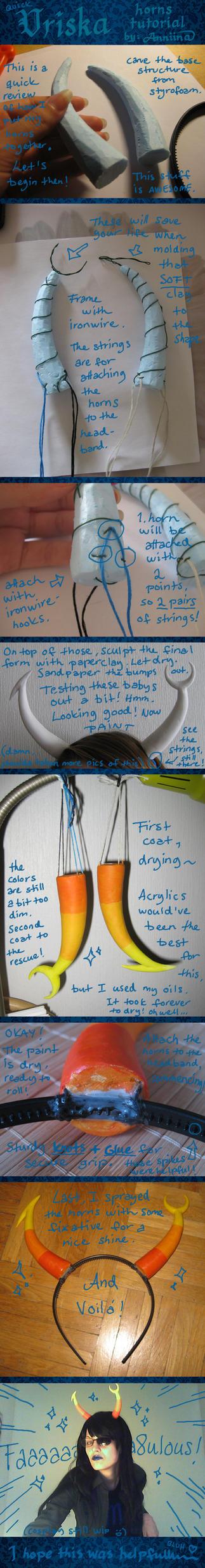 Vriska horns tutorial by Anniina85