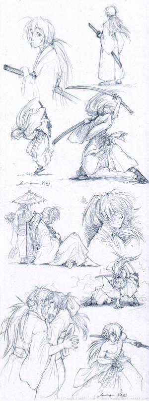 RuroKen sketches