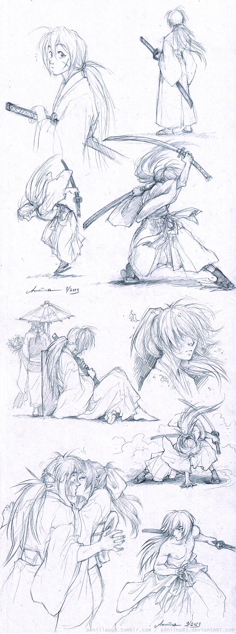 RuroKen sketches by Anniina85