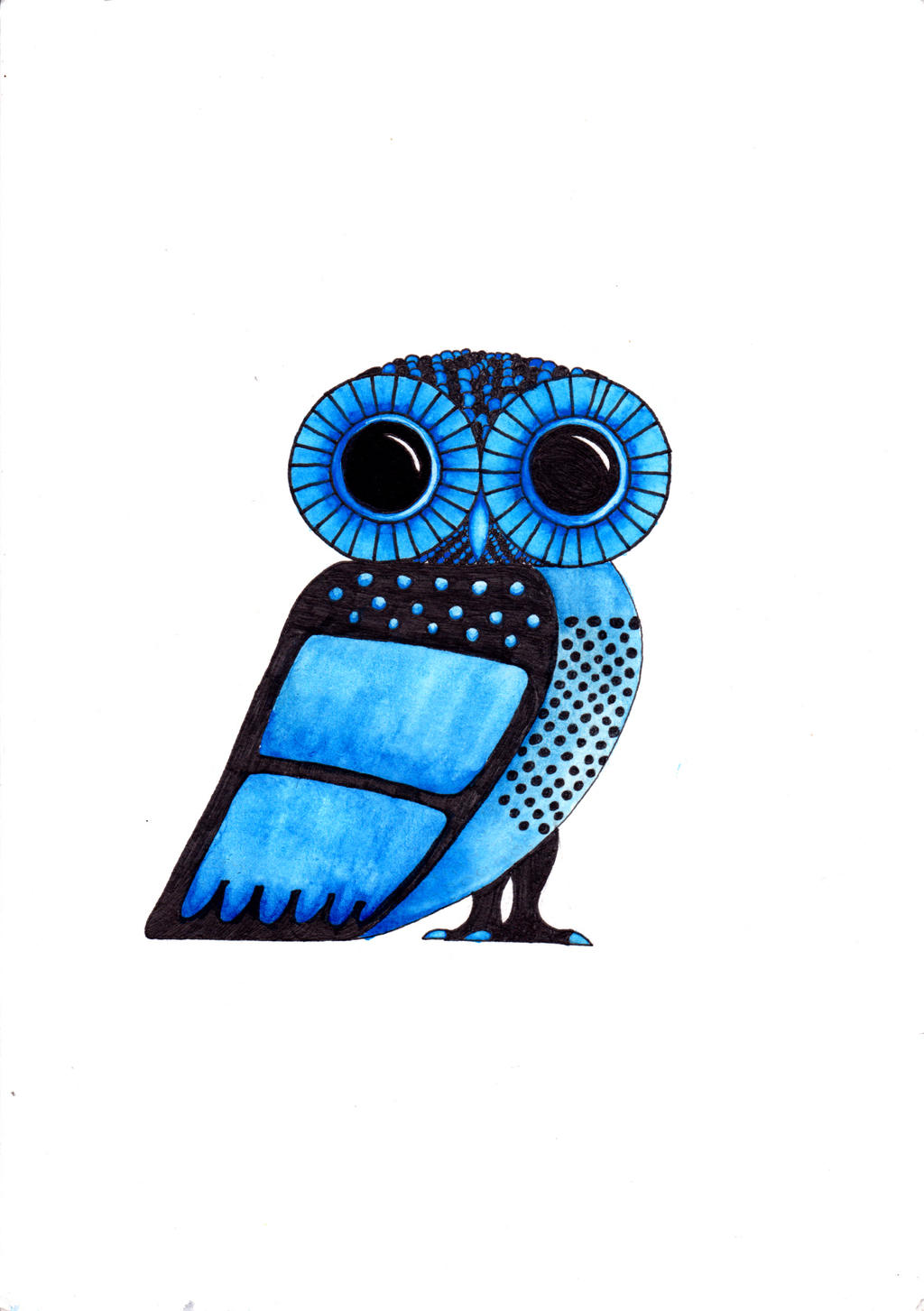 The gallery for --> Athenas Owl Symbol Drawing