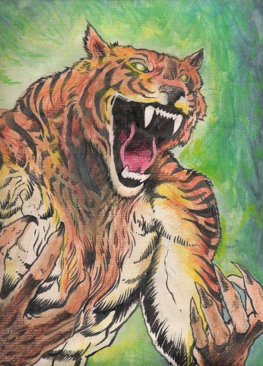 Werewolf vs weretiger - photo#24