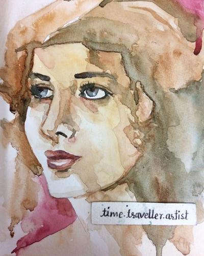 watercolor portrait by ParkashN