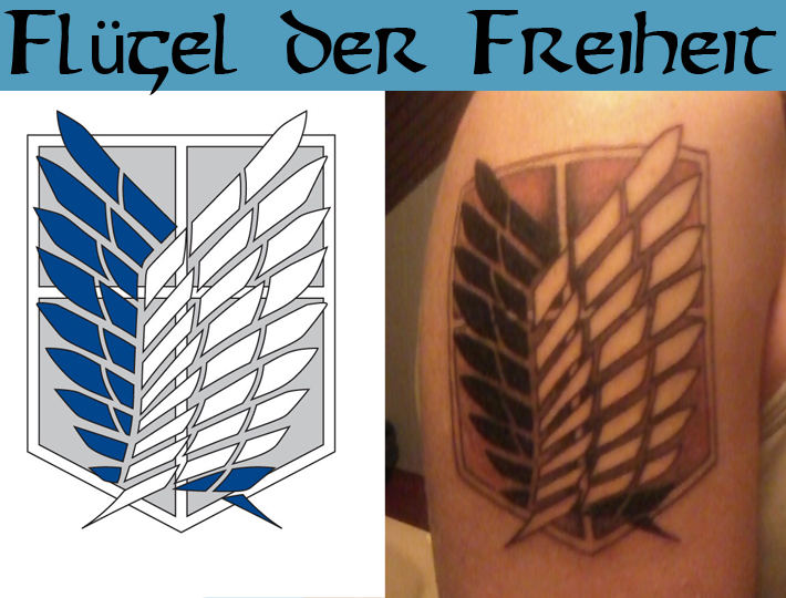Attack on titan wings of freedom back tattoo hot girls for Attack on titan tattoo