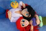 Ariel, Eric y Flounder ^^