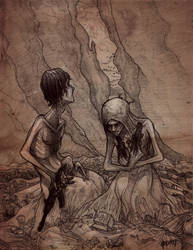 Kaynbred and Ismail Ax in the Abyss of Suffering by BenGoodspeed
