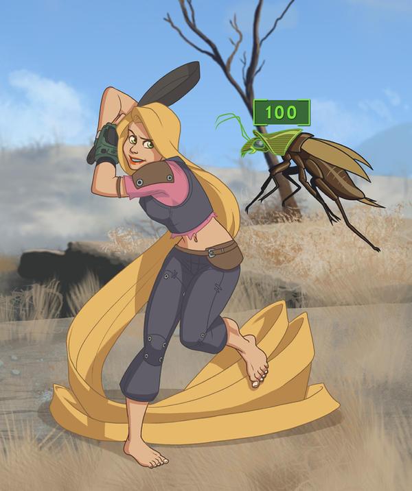 Merc Adventurer Rapunzel by Petarsaur