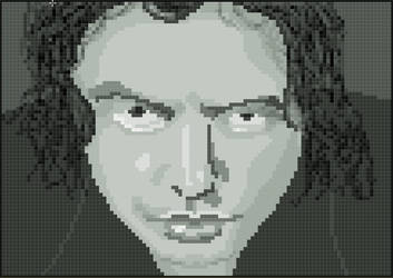 Tommy Wiseau (The Room cover) Pixel Art