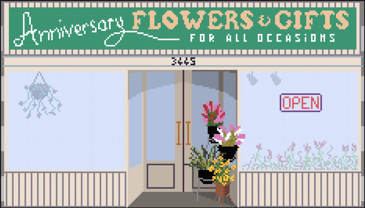 Flower shop from the movie The Room by Mr-Hide-fr