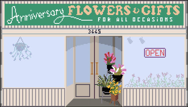 Flower shop from the movie The Room