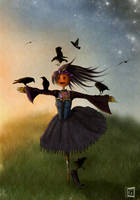 Scarecrow lolita by gerberaMF