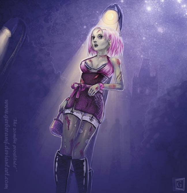 Zombie prostitute by gerberaMF