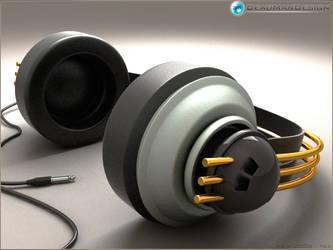3D headphone by deadmandesign