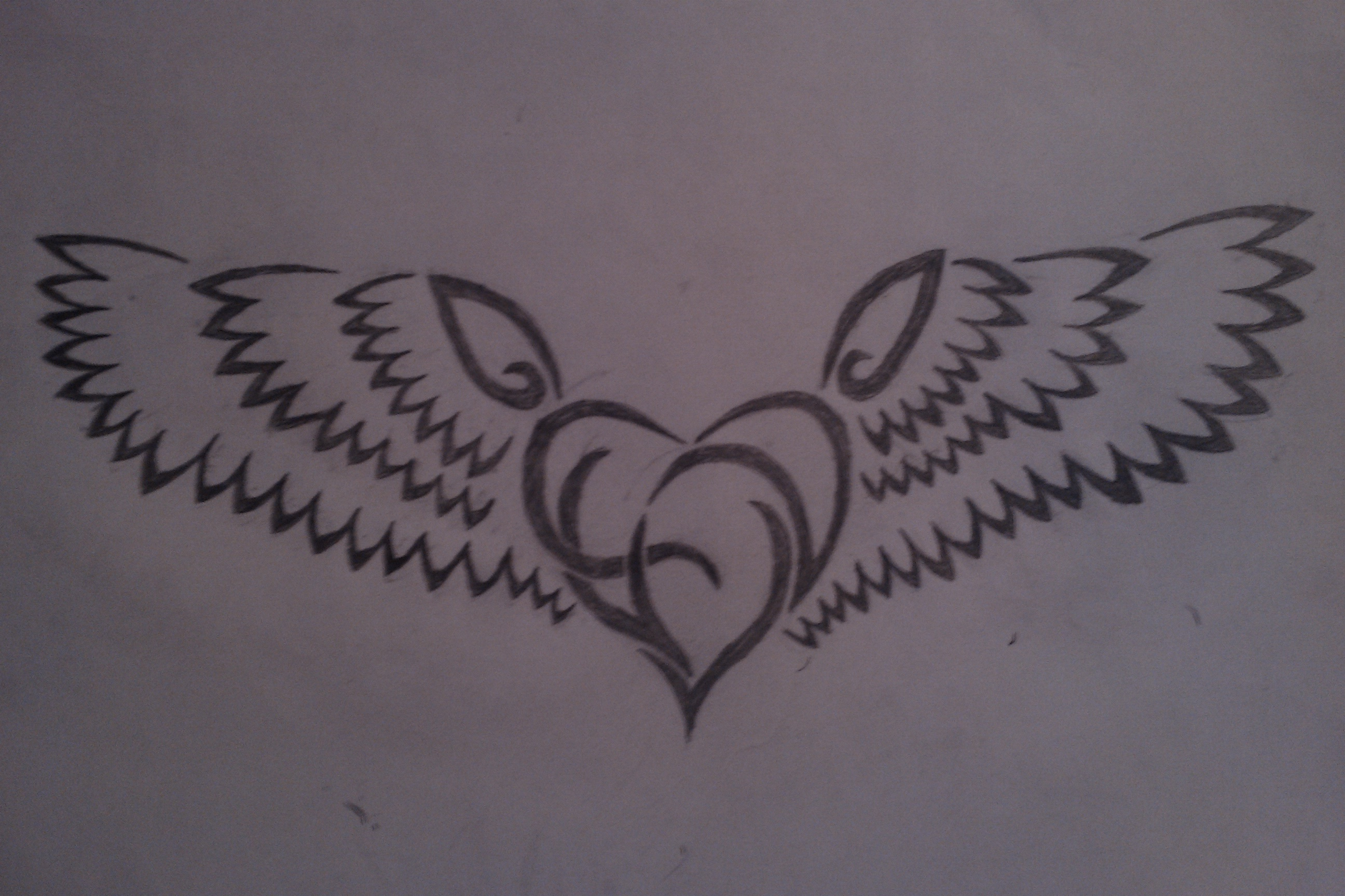 Tribal Heart with wings by Lirzz on DeviantArt