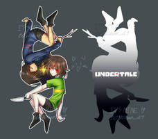 Frisk and Chara Undertale by Onichan47
