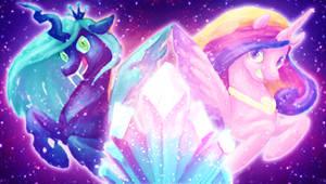 MLPFIM: Disco Space Princess Unicorn Changeling