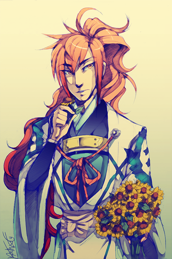 [Harutoki 3] Kuro with Sunflowers by Kathisofy