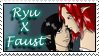 Ryu x Faust Stamp A by dragondoodle
