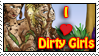 Dirty Girls Stamp by dragondoodle