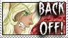 Back off Stamp by dragondoodle