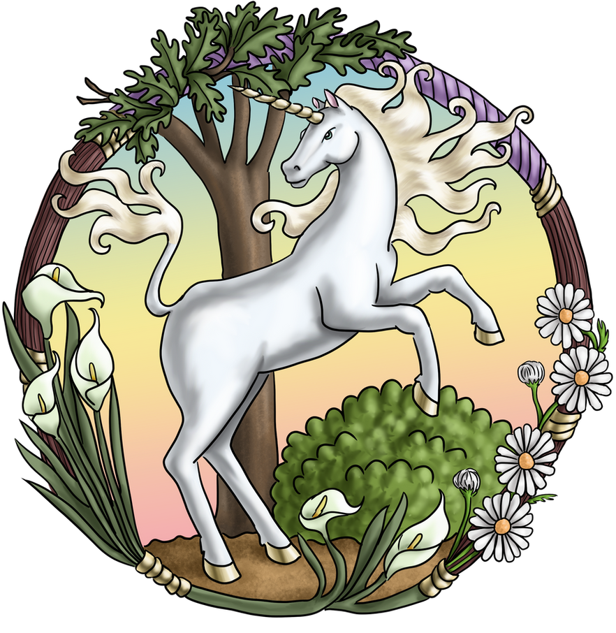 Comm - Nouveau Unicorn by dragondoodle