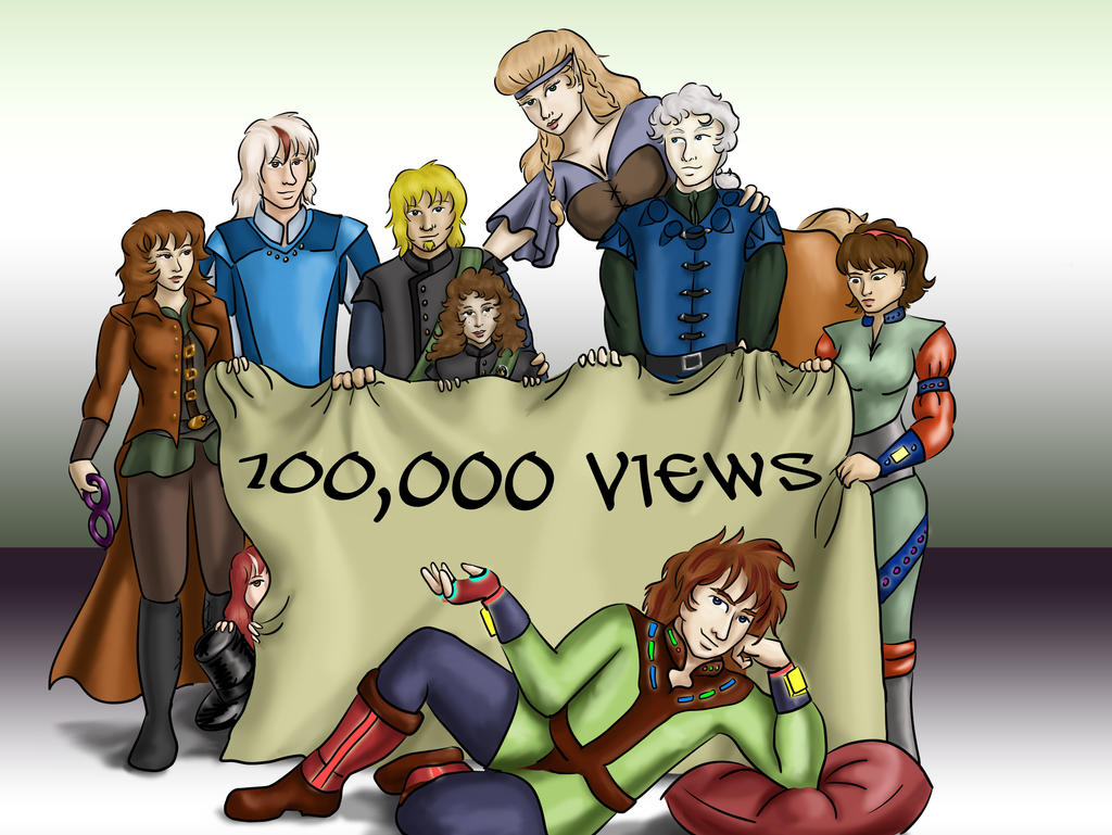 100,000 Views dragondoodle by dragondoodle