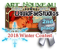 2nd Place Art Nouveau Winter 2018 by dragondoodle