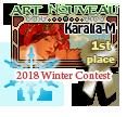 1st Place Art Nouveau Winter 2018 by dragondoodle