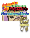 1st Place stamp Antagonist written by dragondoodle