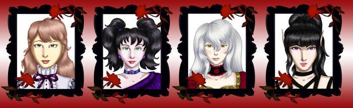 Comm - Vampire Headshots 1 by dragondoodle