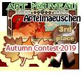 3rd Place Art Nouveau Autumn 2019 by dragondoodle