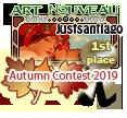 1st Place Art Nouveau Autumn 2019 by dragondoodle