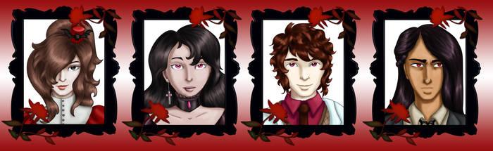 Comm - Vampire Headshots 2 by dragondoodle