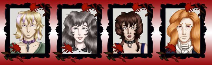 Comm - Vampire Headshots 3 by dragondoodle