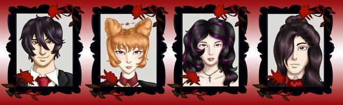 Comm - Vampire Headshots 4 by dragondoodle