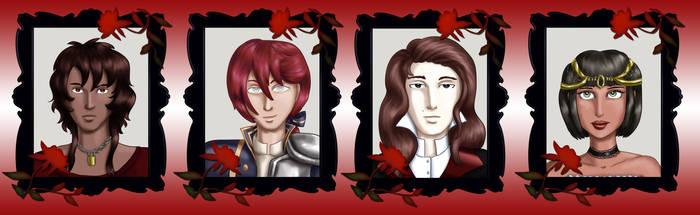 Comm - Vampire Headshots 5 by dragondoodle