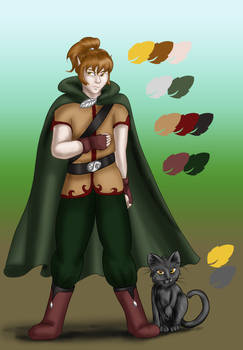 Comm - Elf boy with Cat