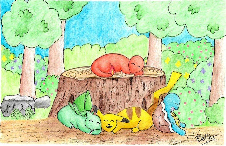 Sleepy Pokemon 2 by Dal-Vadar