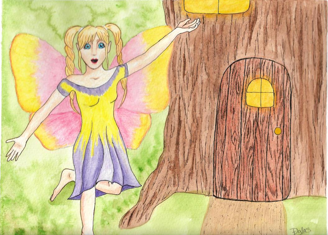 Wood Fairy by Dal-Vadar