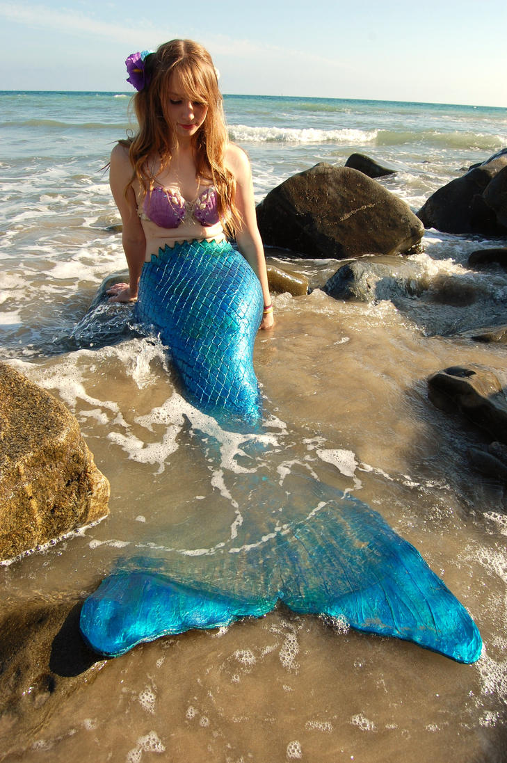 Mermaid at the Beach 2 by pixi996